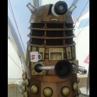 Dalek - The Daleks are a fictional extraterrestrial race of mutants principally portrayed in the British science fiction television programme Doctor Who.