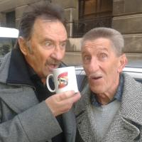 Barry David Elliott and Paul Harman Elliott, better known as the double-act the Chuckle Brothers. English children's entertainers