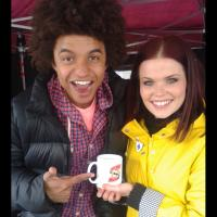 Radzi Chinyanganya & Lindsey Russell - British presenters on long-running BBC Television's Blue Peter.